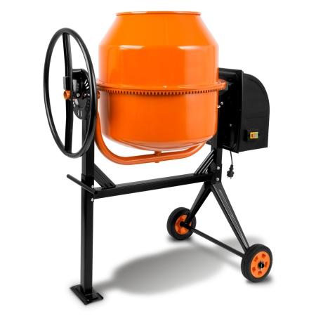 EBERTH Betonmischer mit 140 Liter Trommelvolumen und 550 Watt