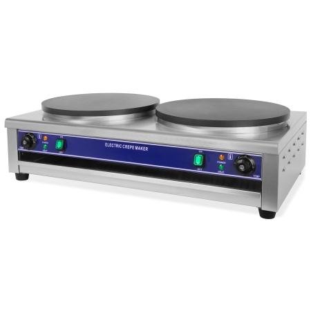 Vertes Crepes Maker mit 2x Ø40cm Platte und 2x3000 Watt Leistung