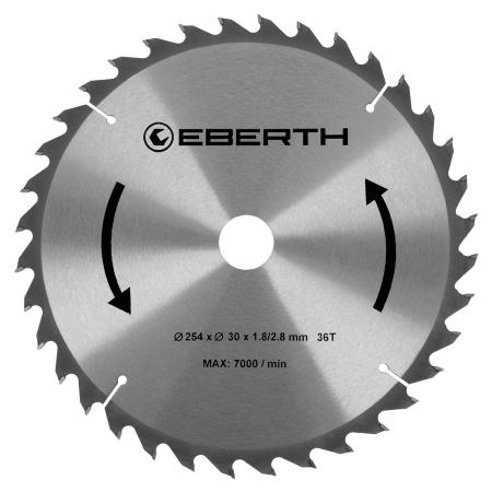 EBERTH Sägeblatt mit 254 mm Durchmesser