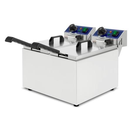 vertes Fritteuse 2 x 8 Liter Liter Edelstahl Gastronomie Qualität