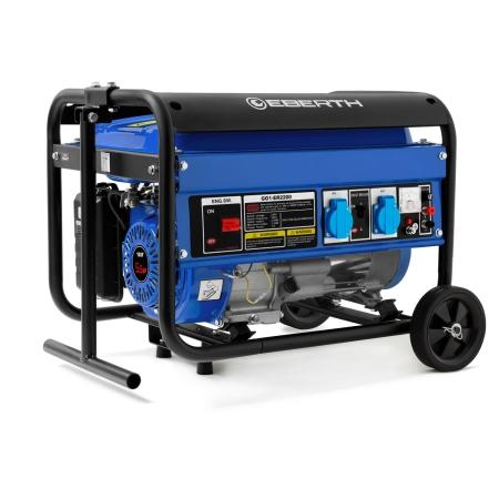 EBERTH Stromerzeuger 2200 Watt mit Rädern 1-Phase