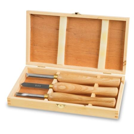 EBERTH 3-tlg Drechselmesserset zum Bearbeiten von Holz