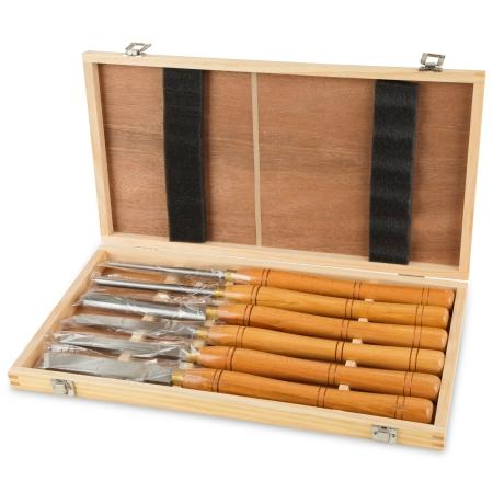 EBERTH 6-tlg Drechselmesserset zum Bearbeiten von Holz
