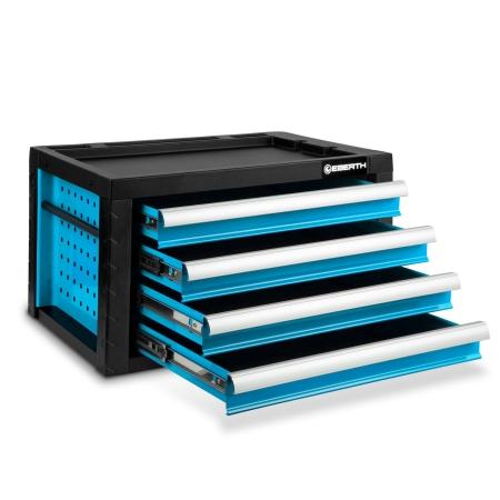 EBERTH Werkzeugkiste mit 4 Schubladen blau