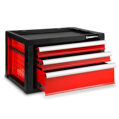 EBERTH Werkzeugkiste mit 3 Schubladen rot