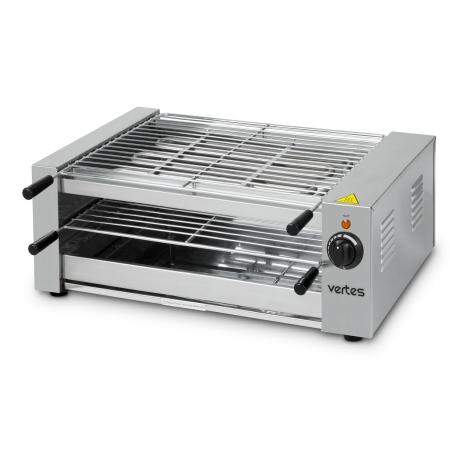 vertes BBQ Grill elektrisch 3000 Watt, 2x Grillfläche
