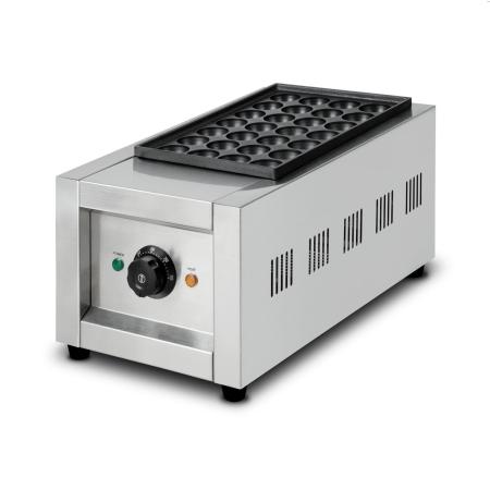 vertes Takoyaki Maker 2000 Watt mit 28 Mulden