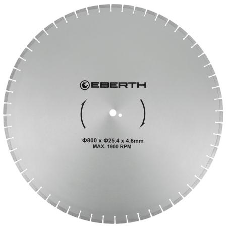 EBERTH Diamant Trennscheibe Ø800 mm