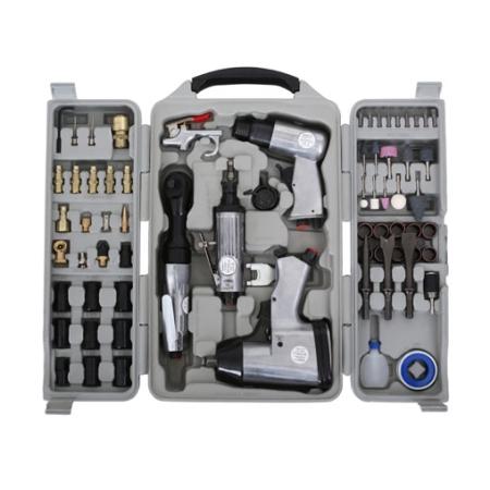 EBERTH 71-teiliges Druckluft Geräte SET mit 311Nm Schlagschrauber