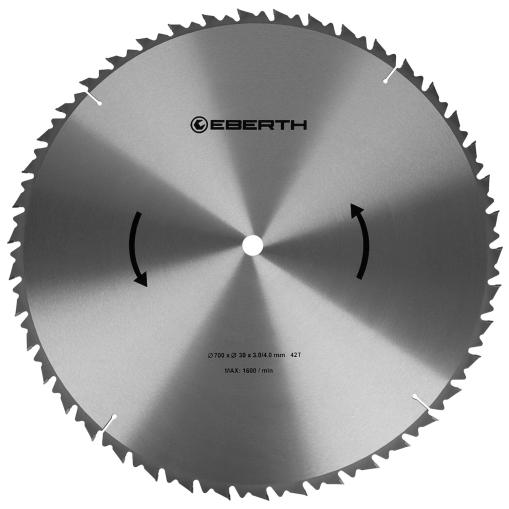 EBERTH Sägeblatt mit 700 mm Durchmesser