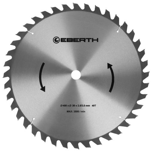 EBERTH Sägeblatt mit Durchmesser 450 mm