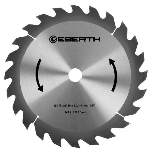 EBERTH Sägeblatt mit 315 mm Durchmesser