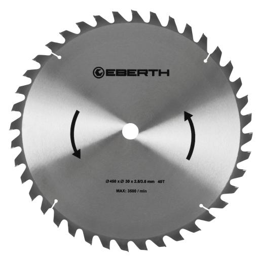 EBERTH Sägeblatt mit 450 mm Durchmesser