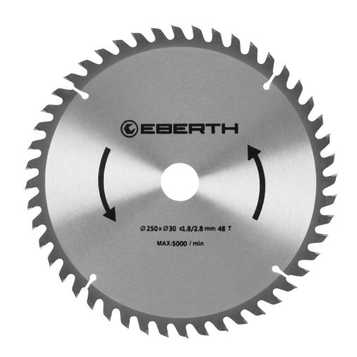 EBERTH Sägeblatt mit 250 mm Durchmesser