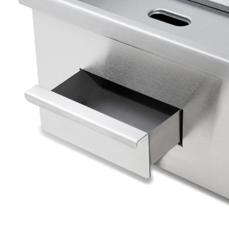 vertes Edelstahl Grillplatte halb geriffelt mit 3000 Watt bis 300°C