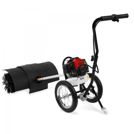 EBERTH 3 PS Kehrmaschine mit Rädern und Benzinmotor