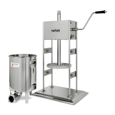vertes Wurstfüllmaschine komplett Edelstahl 10 Liter