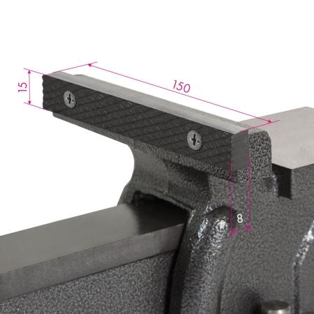 EBERTH Werkbankschraubstock 150mm mit Amboss & Teller