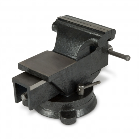 EBERTH Werkbankschraubstock 125mm mit Amboss & Teller