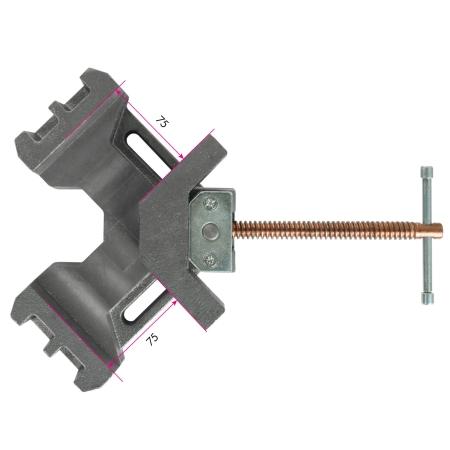 EEBERTH Winkelschraubstock 75 mm zum Spannen von Werkstücken bei 90°