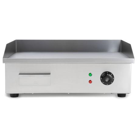 vertes Edelstahl Grillplatte ohne Riefen mit 3000 Watt bis 300°C