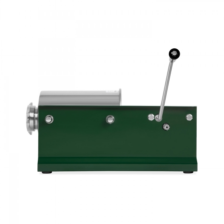 vertes Wurstfüller horizontal 3L Edelstahl Zylinder liegend