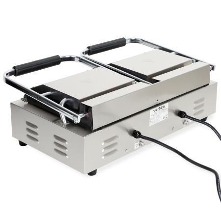 Vertes doppelt Kontaktgrill mit 2x 1800 Watt Leistung bis zu 300°C