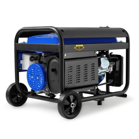 EBERTH 6,5PS Stromerzeuger mit 3000 Watt Leistung E-Start Rädern und Handgriff
