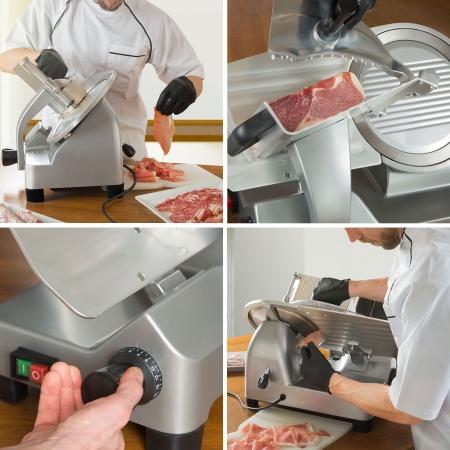 vertes Allesschneider Elektrisch 250W mit 250mm Messer Durchmesser