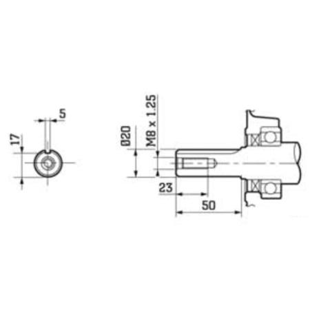 EBERTH 5,5 PS Benzinmotor 1 Zylinder 4-Takt mit 20mm Welle